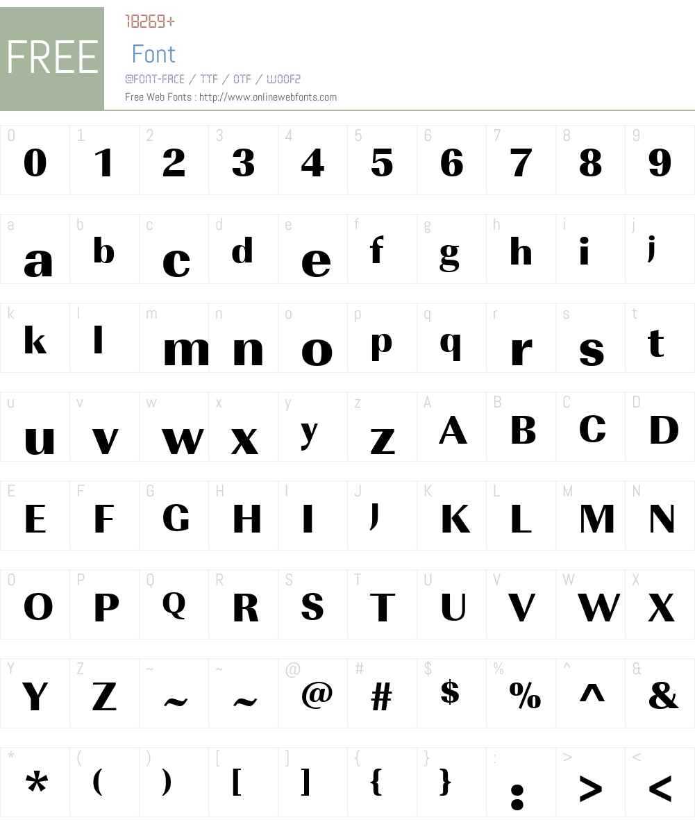 URWImperialW01-UltraBold Font Screenshots