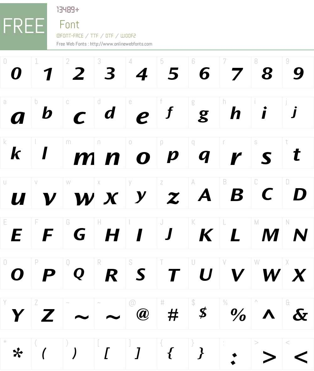 Ocean Sans Std Font Screenshots