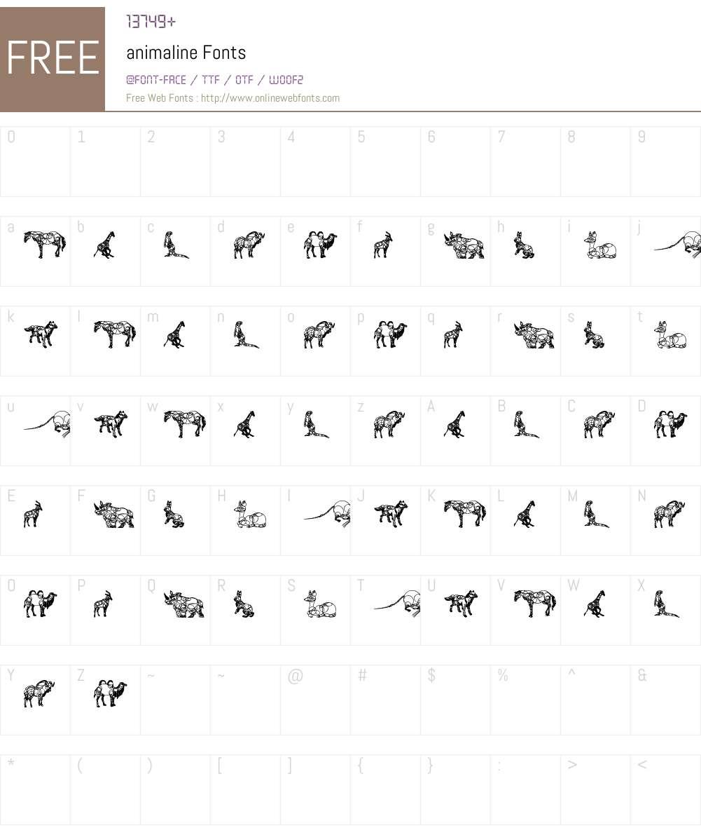 animaline Font Screenshots