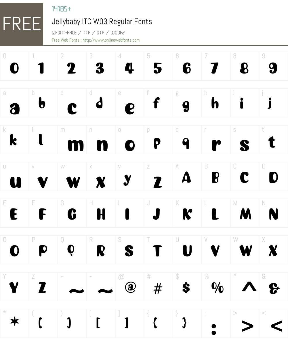 JellybabyITCW03-Regular Font Screenshots