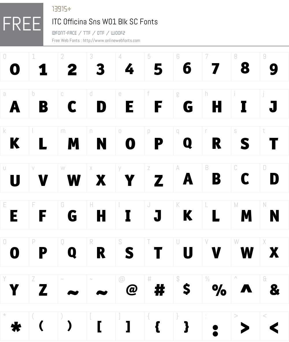 ITCOfficinaSnsW01-BlkSC Font Screenshots