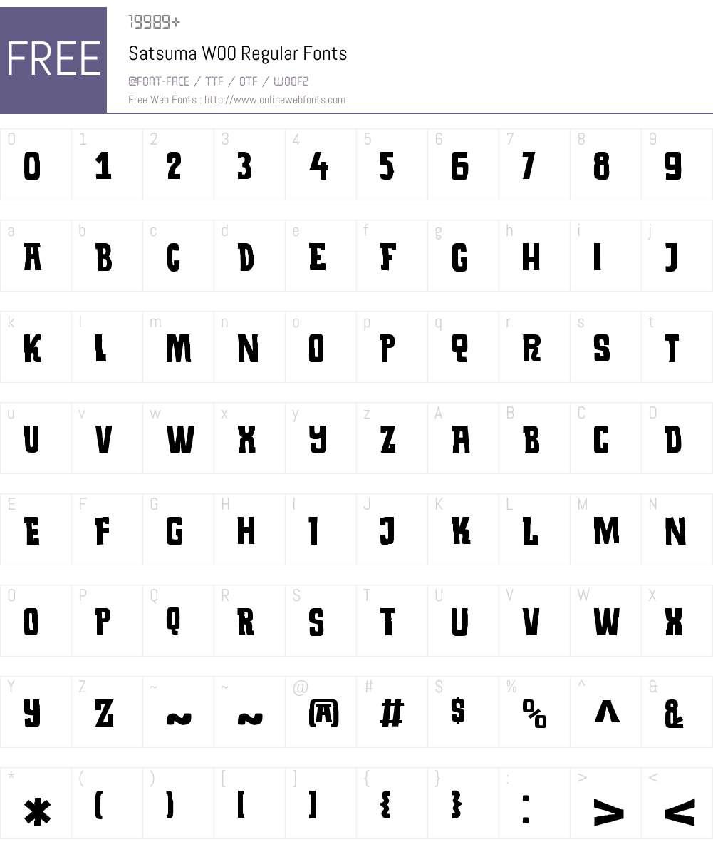 SatsumaW00-Regular Font Screenshots
