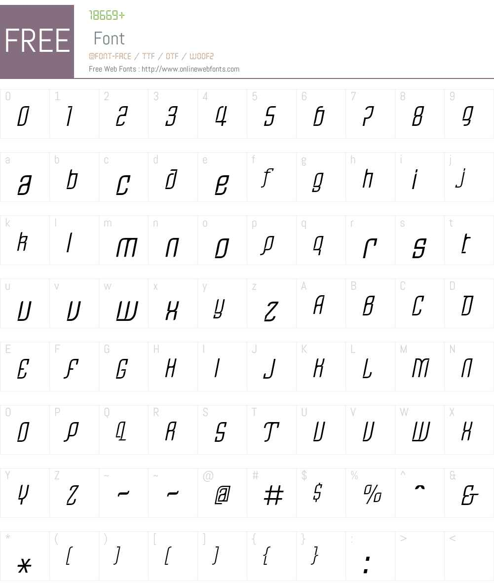 Linotype Rezident One Font Screenshots