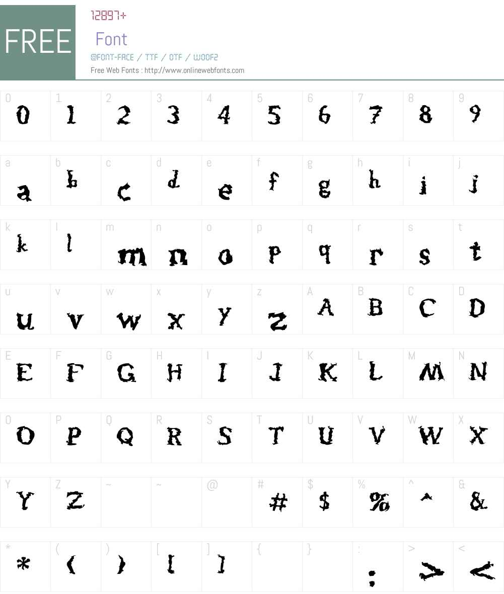 Injected Font Screenshots