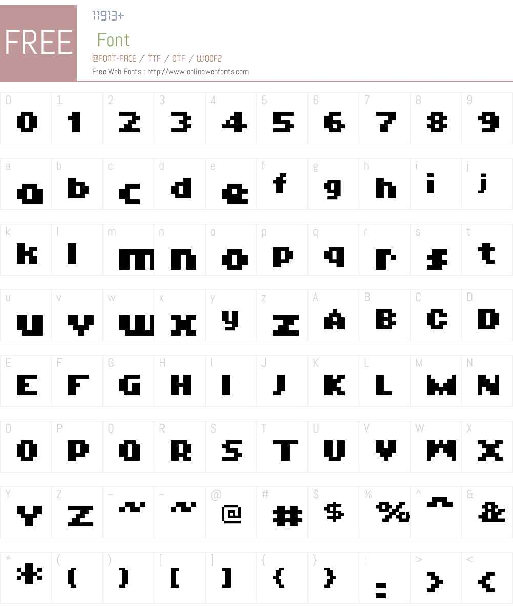01Logistix Font Screenshots