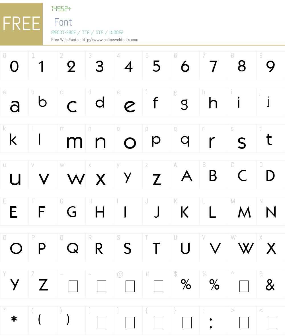 Kabel Font Screenshots