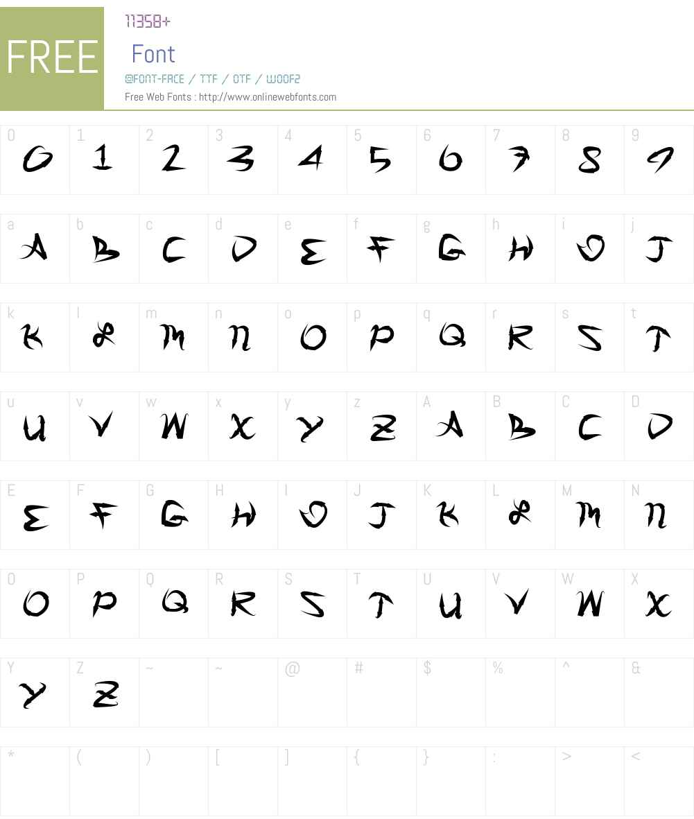 GreatArrows Font Screenshots