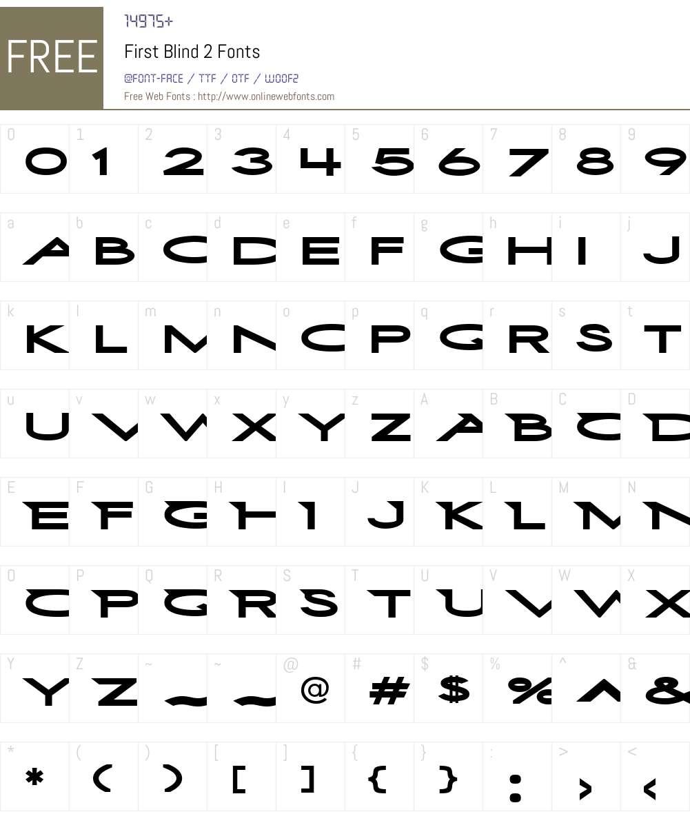 First Blind 2 Font Screenshots