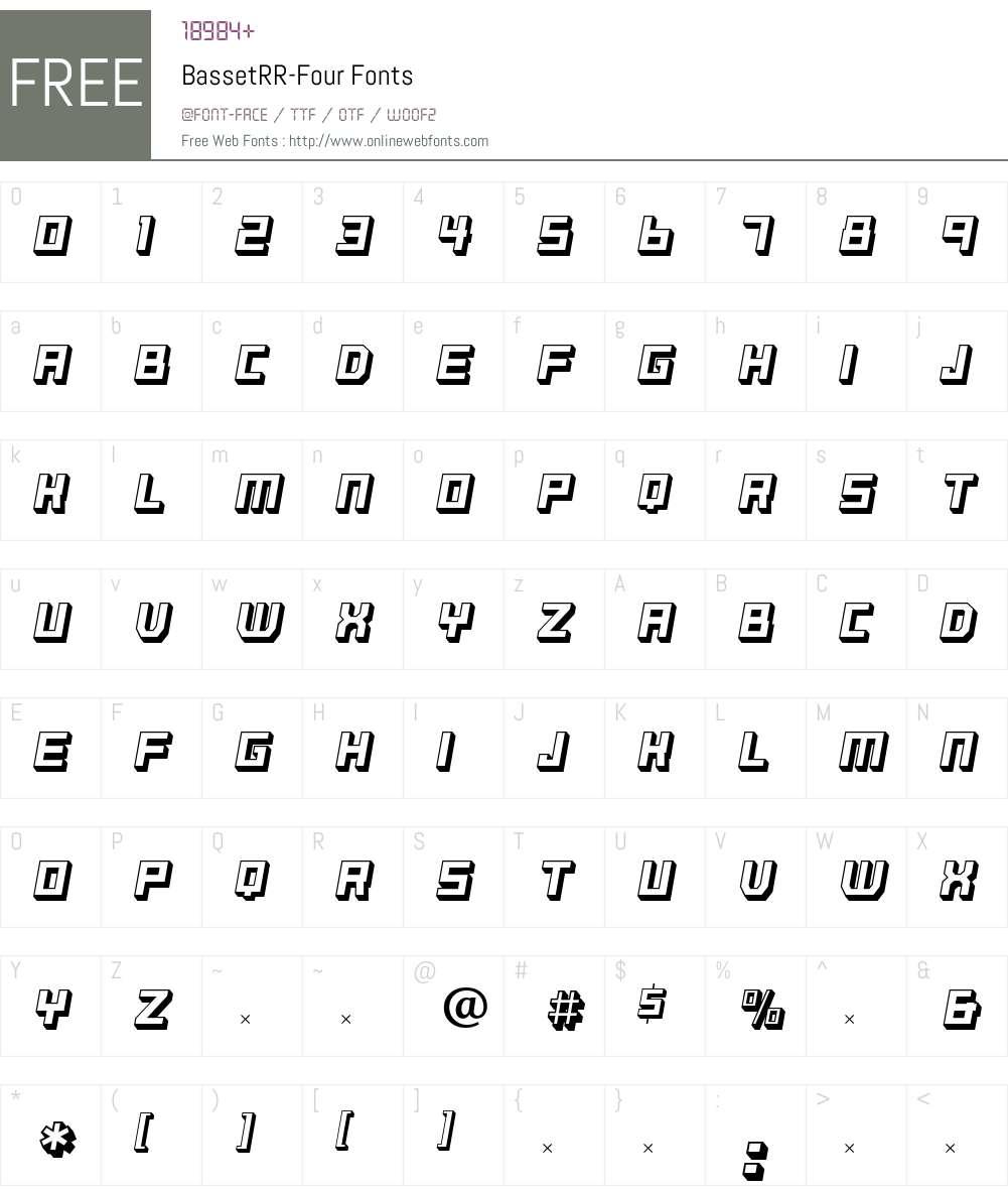 BassetRR Font Screenshots