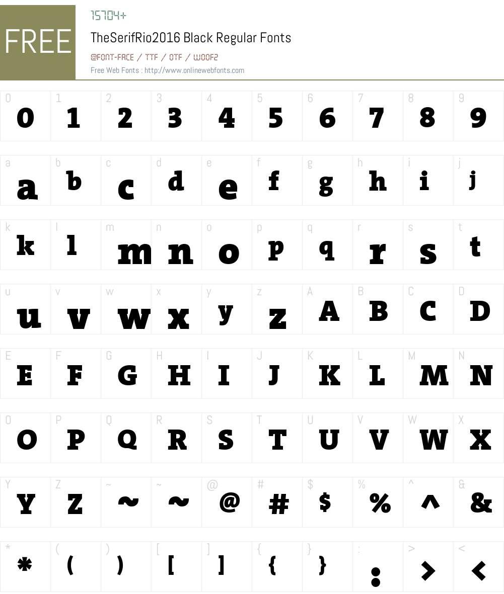 TheSerifRio2016 Black Font Screenshots