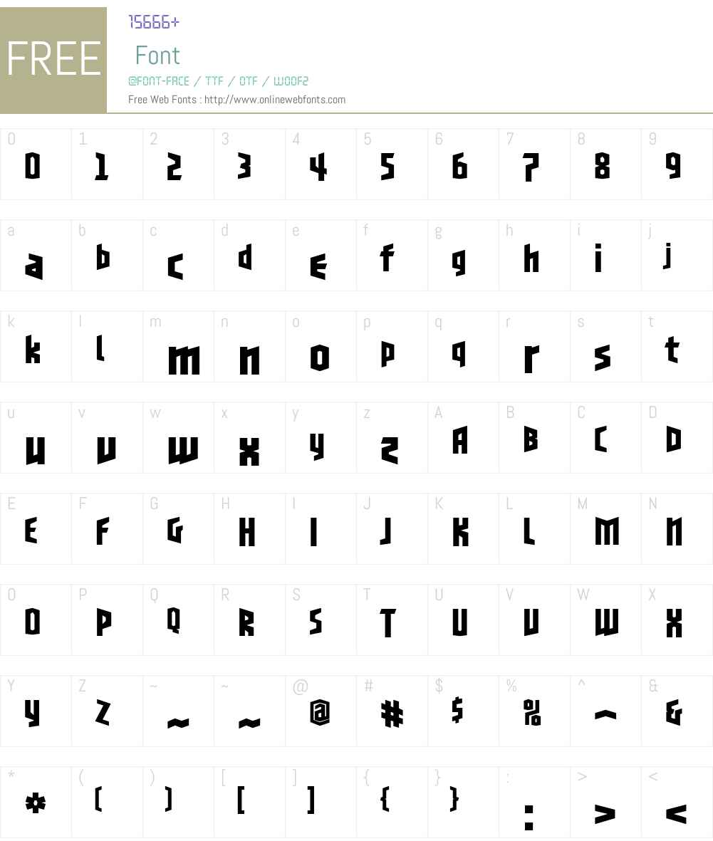 BlackletterSansW00-OneBd Font Screenshots
