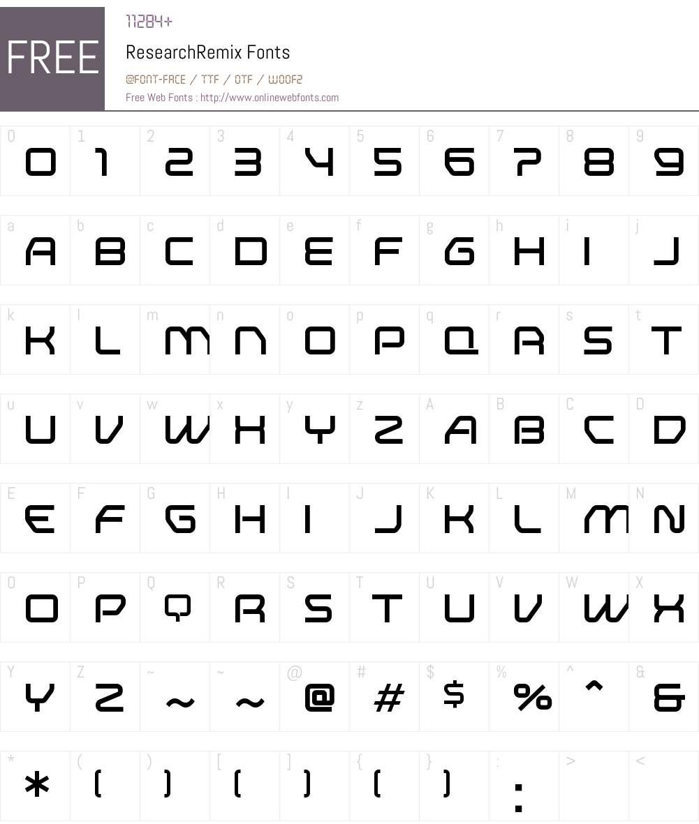 Research Remix Font Screenshots