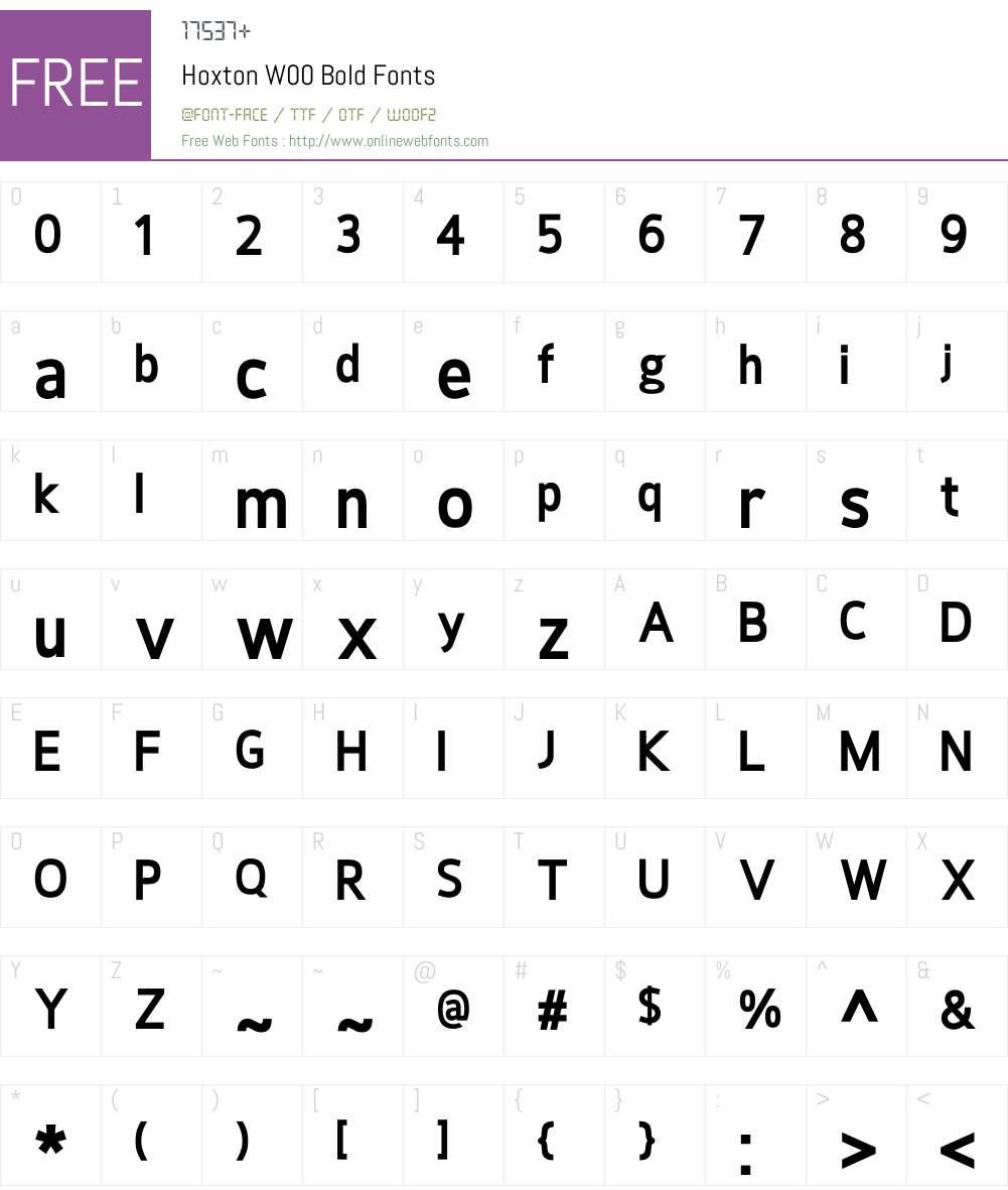 HoxtonW00-Bold Font Screenshots