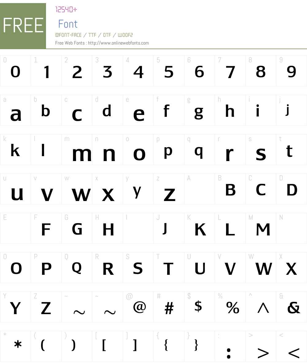 LesmoreMedium Font Screenshots