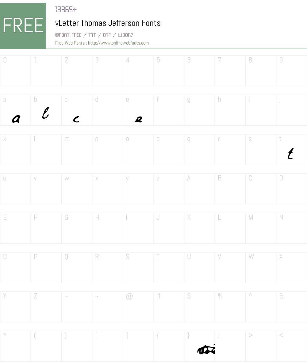 vLetter Thomas Jefferson Font Screenshots