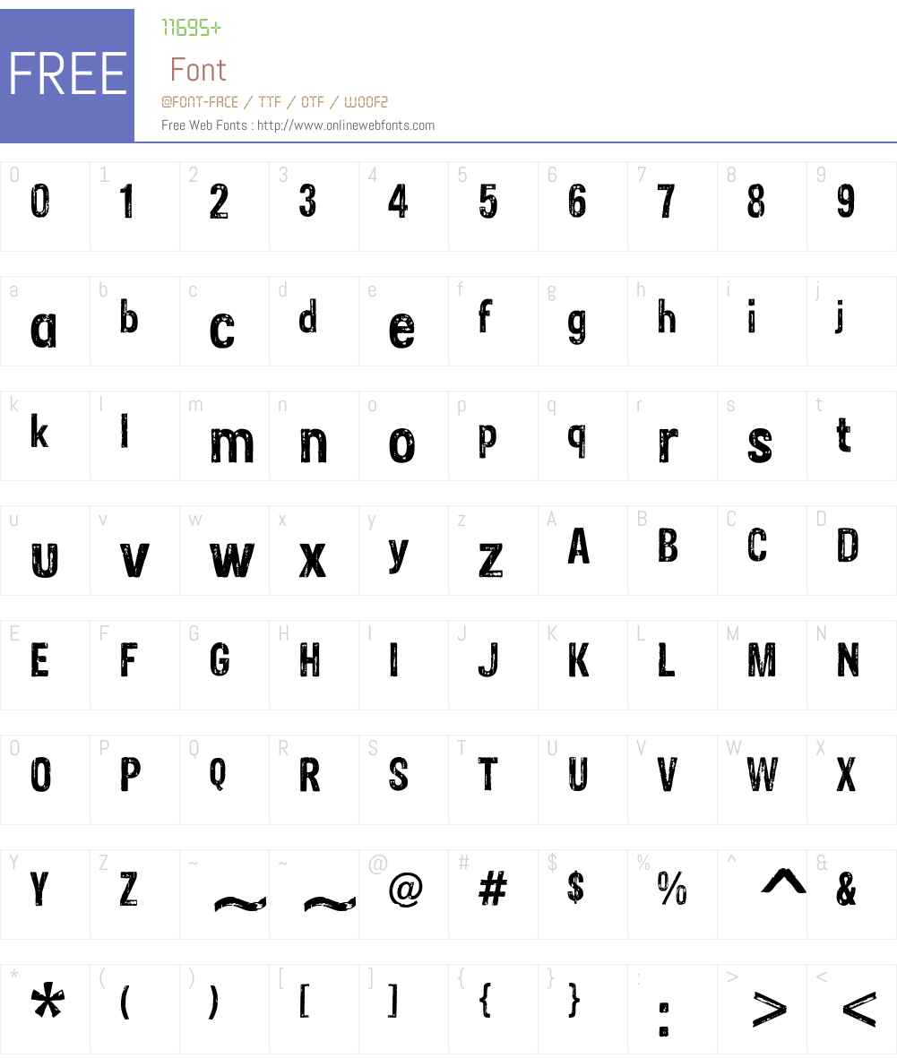 Sans Culottes Font Screenshots