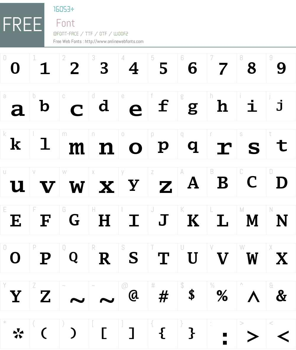 Lucida Typewriter Font Screenshots