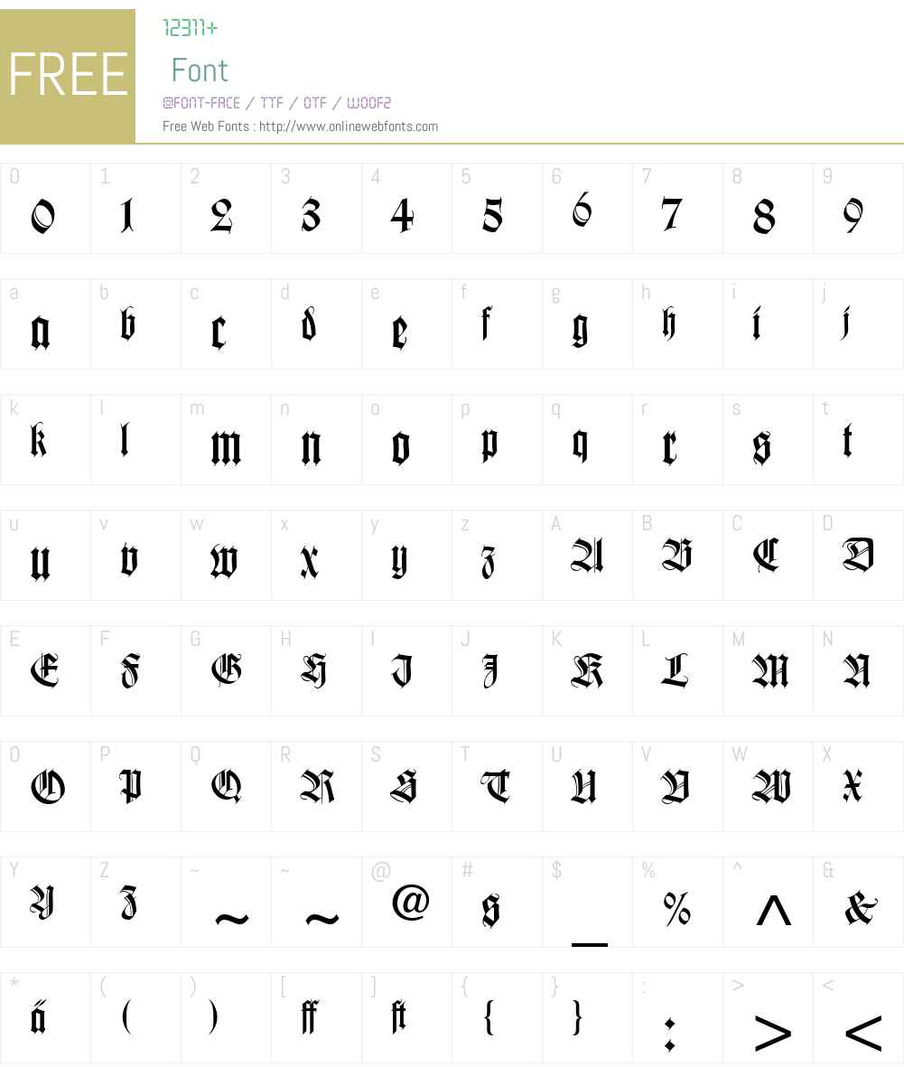Wilhelm Klingspor Cyr Font Screenshots