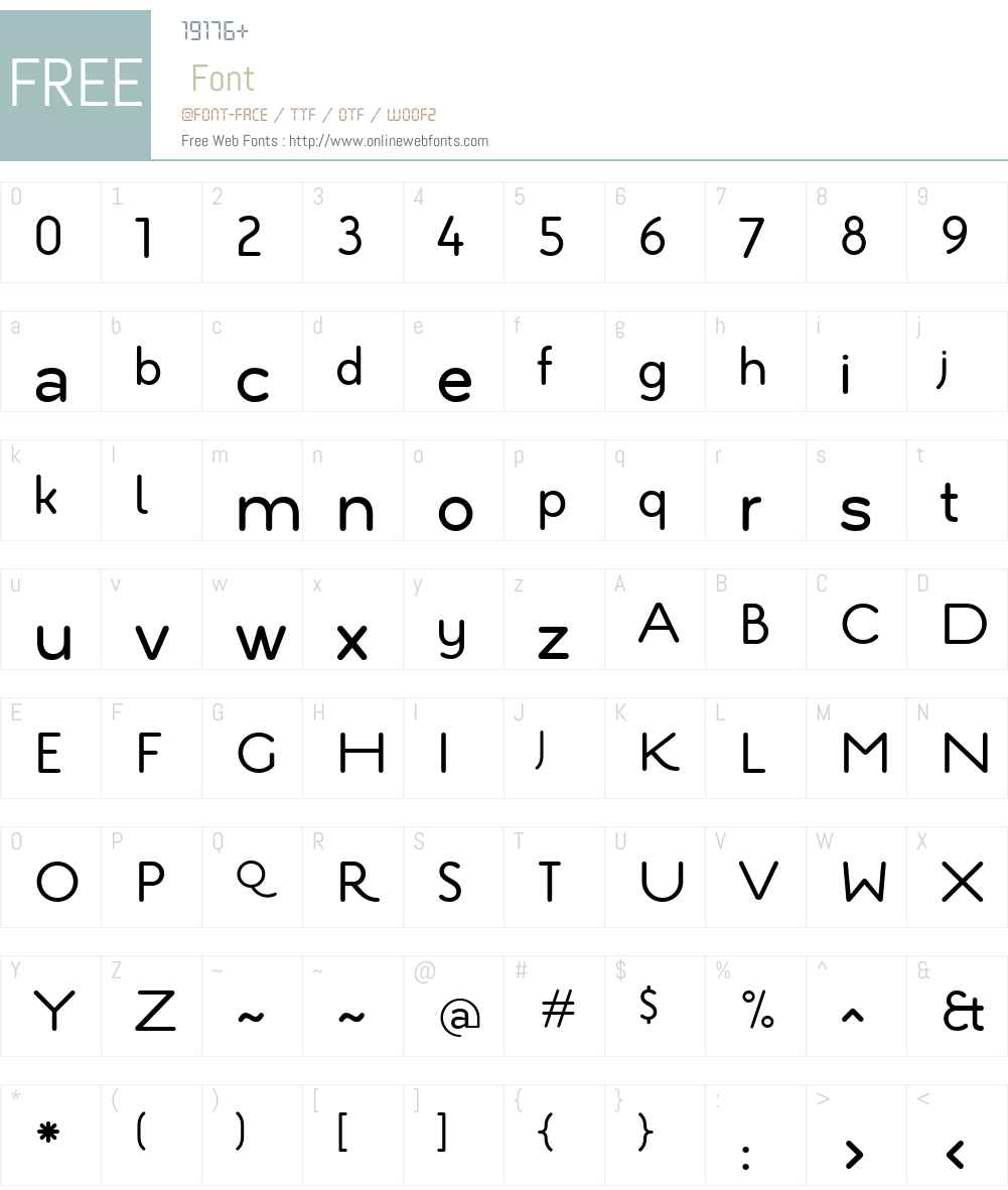 EstiloW01-TextRegular Font Screenshots