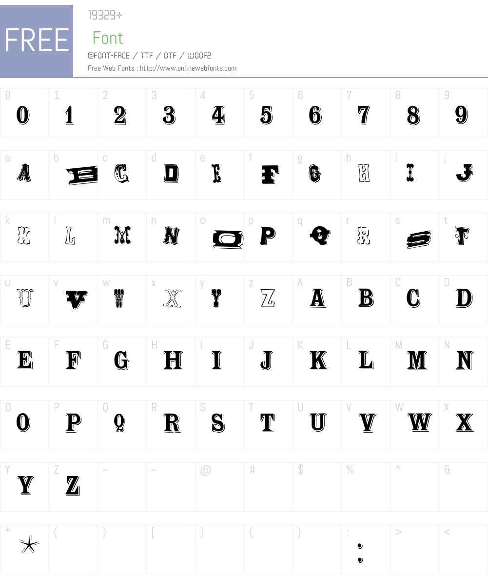 WoodTypesMK Font Screenshots