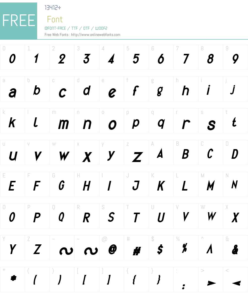Quirkus Font Screenshots