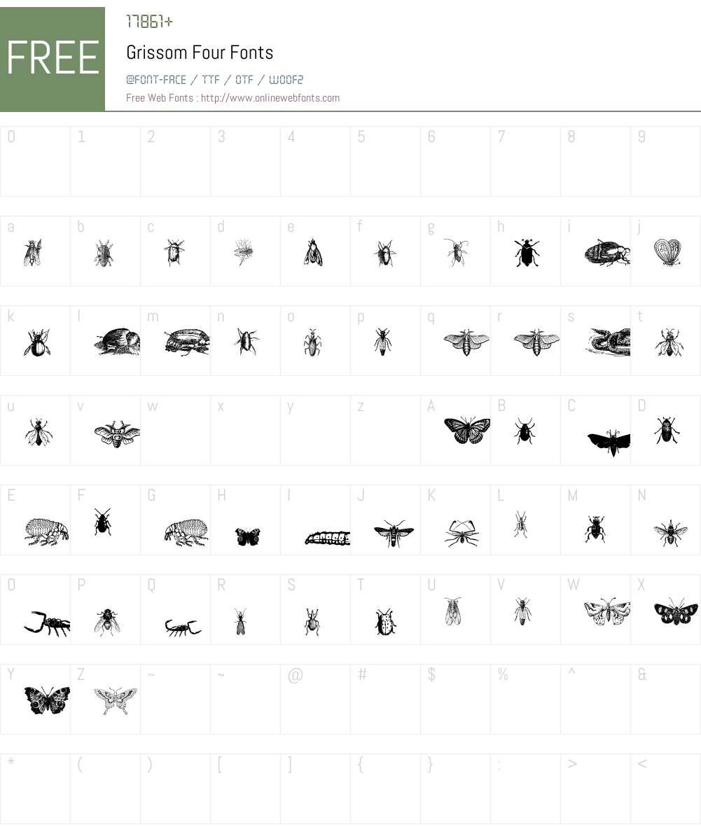 Grissom Four Font Screenshots