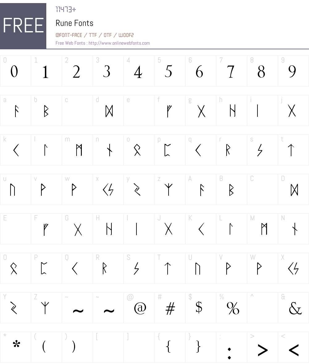 Rune Font Screenshots