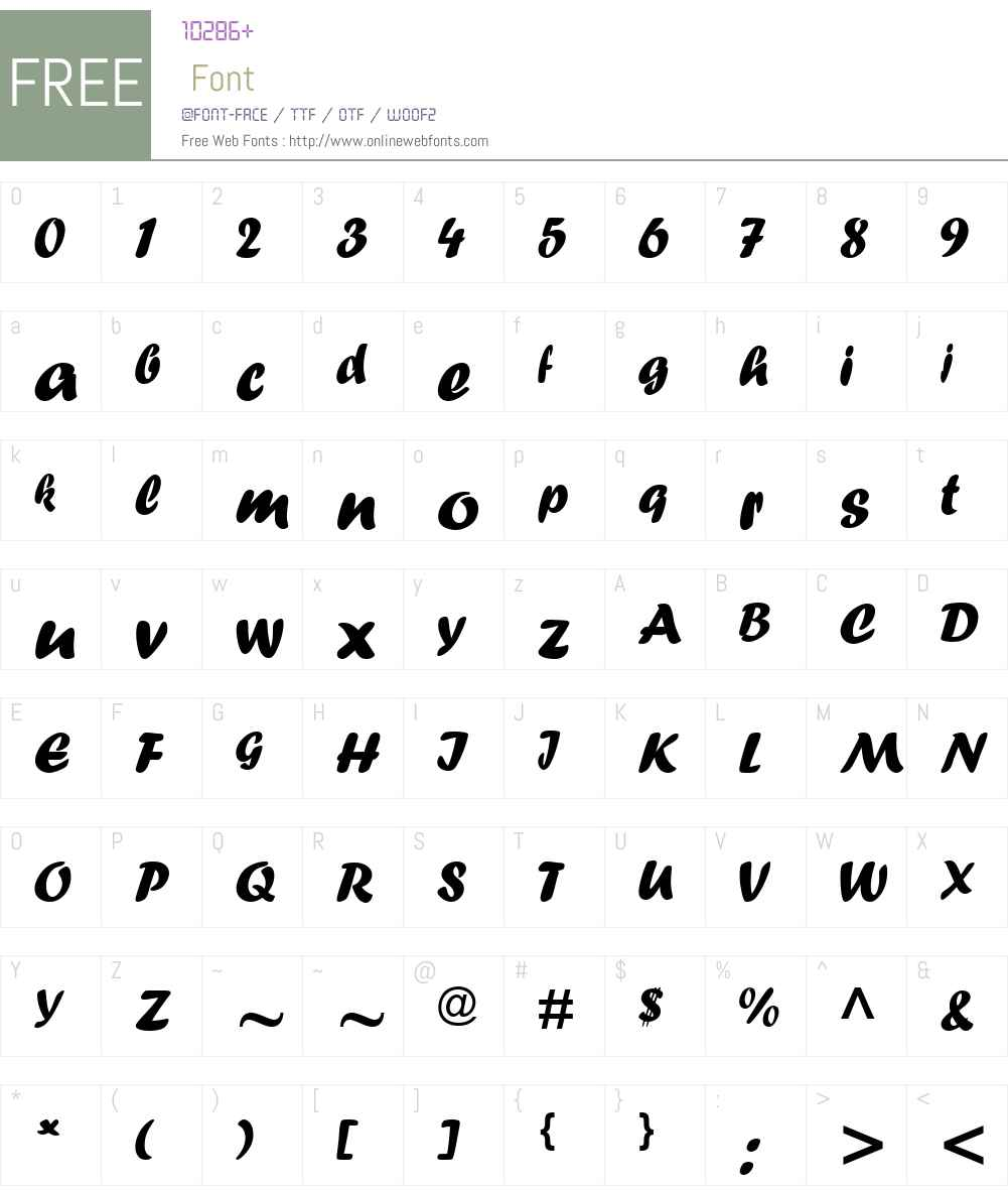 Forte Font Screenshots