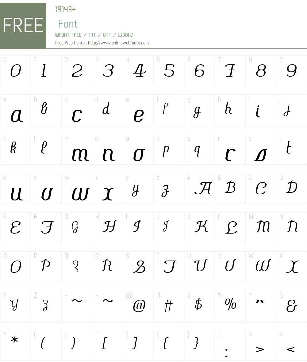 ChiaraScriptW01-Regular Font Screenshots