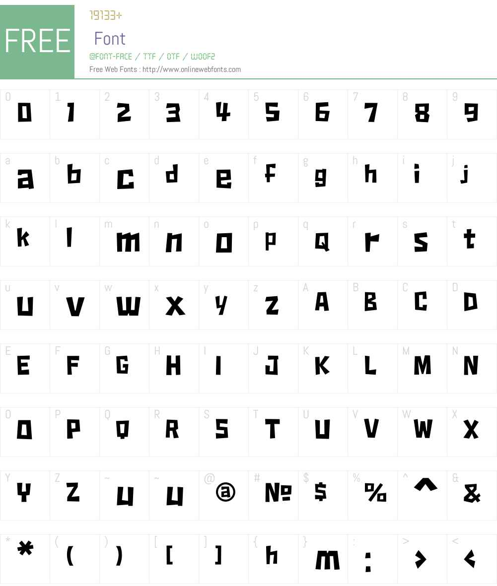 Fido Font Screenshots