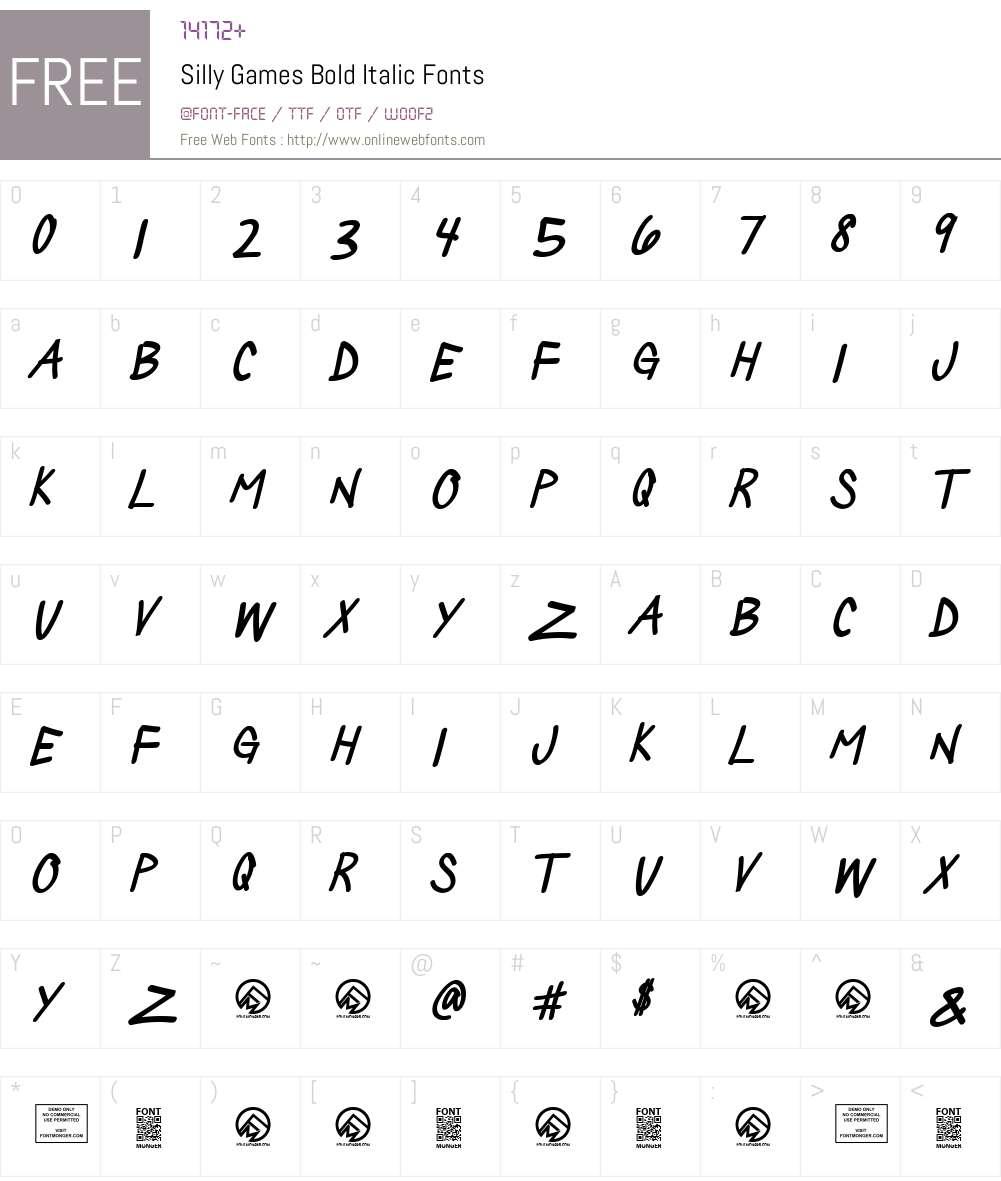 Silly Games Font Screenshots