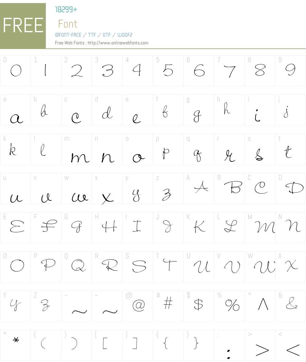 Jiffy Font Screenshots