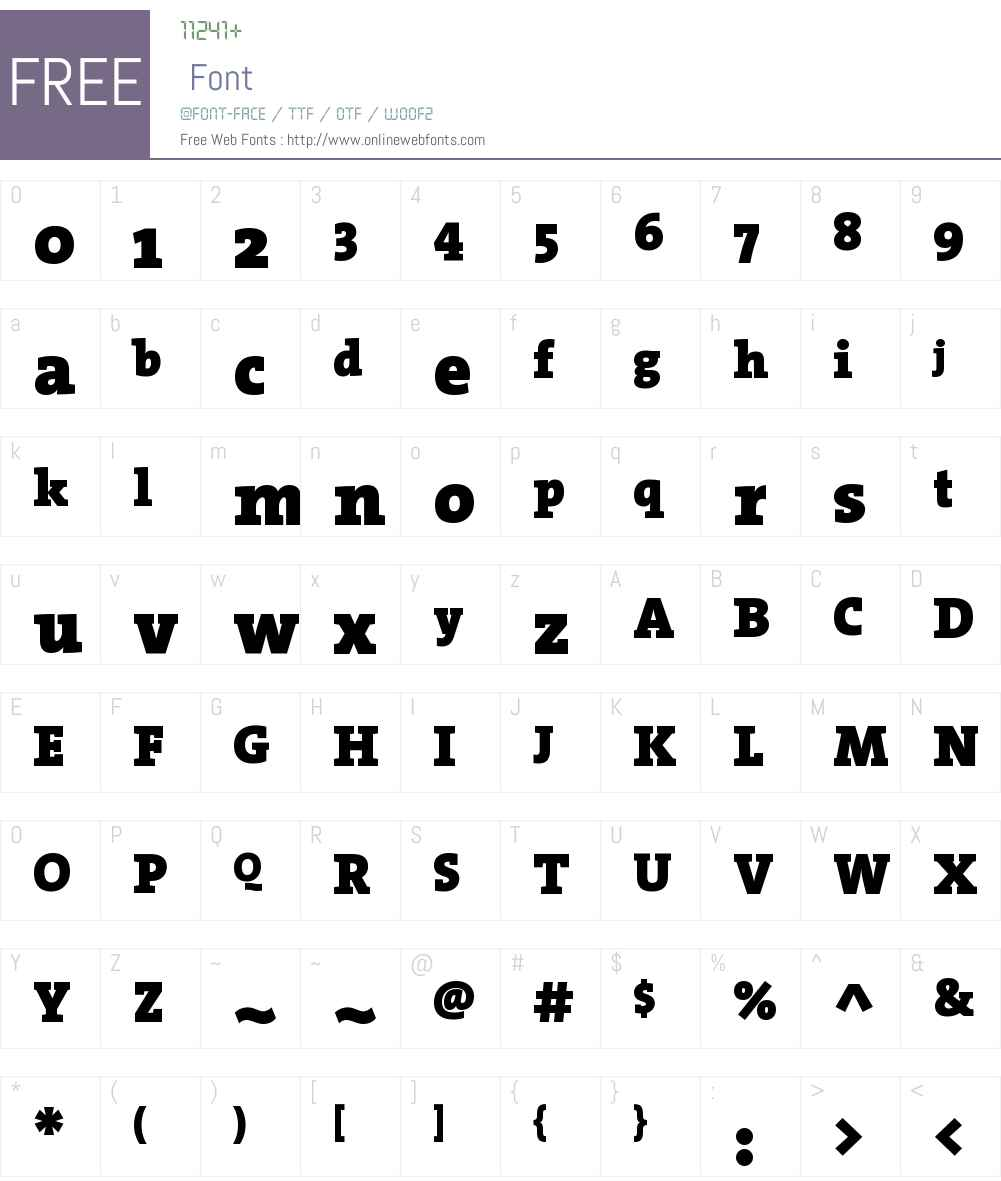 The Serif Black- Font Screenshots