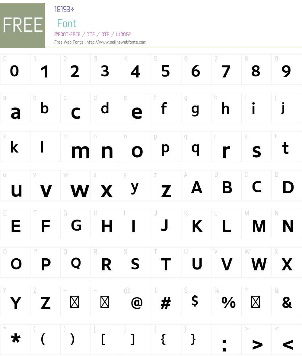GemeliWeb Font Screenshots