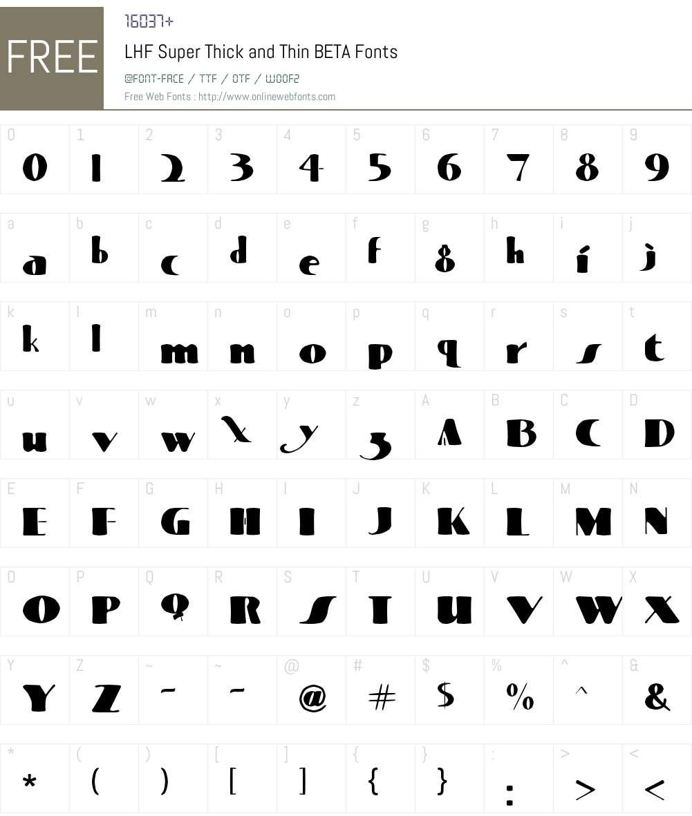 LHF Super Thick and Thin BETA Font Screenshots
