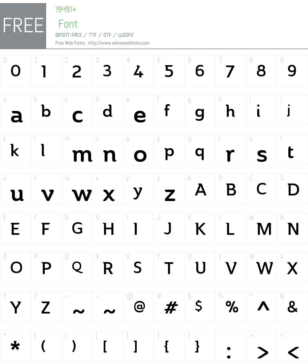 AinslieW01-NormDemi Font Screenshots