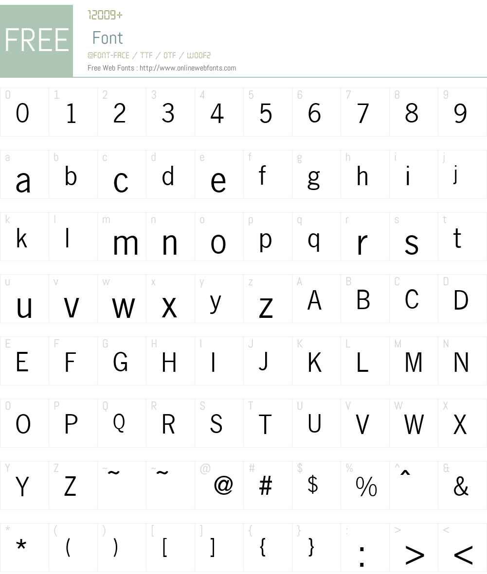 N691-Sans Font Screenshots