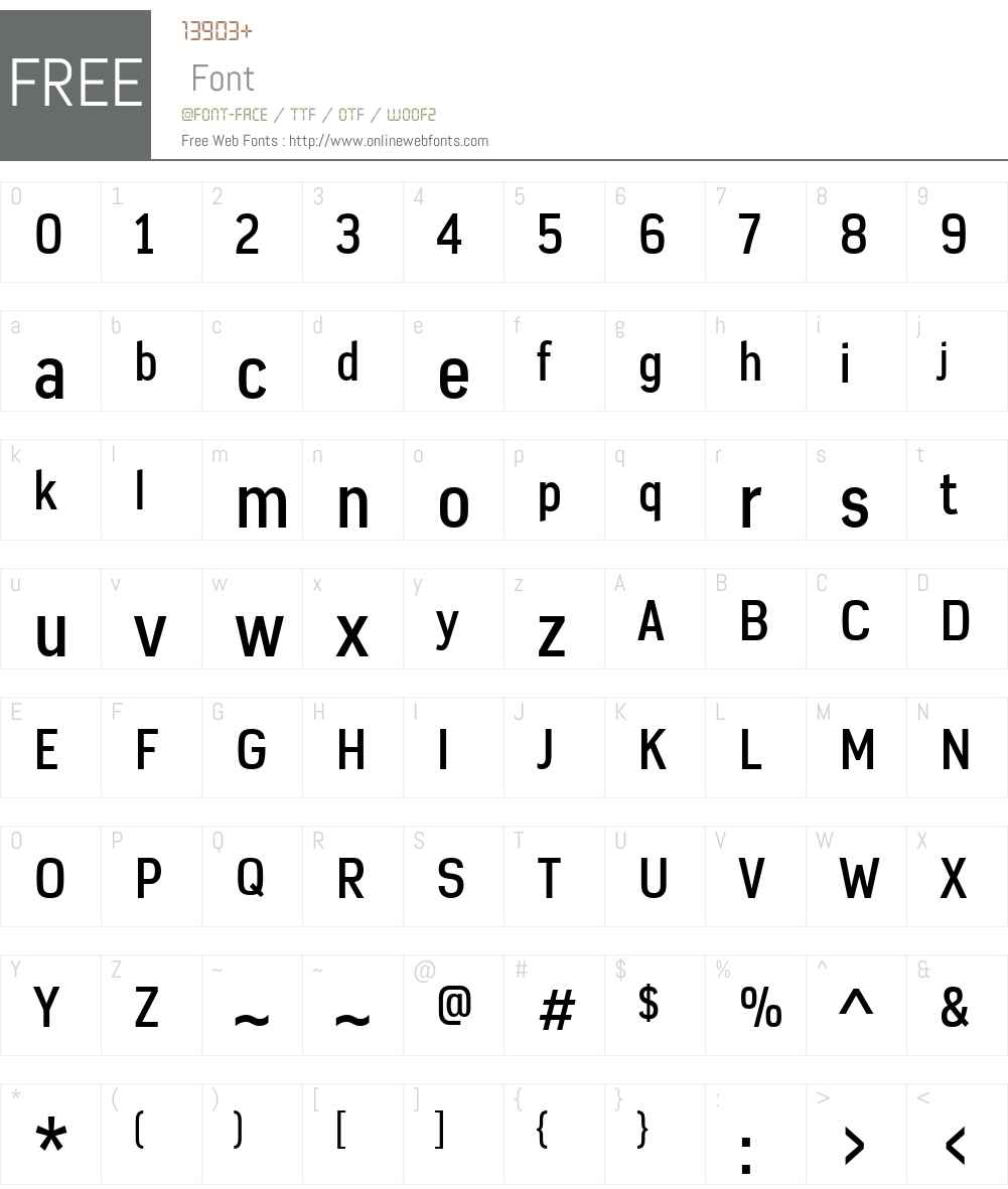 AzbukaW01-MediumCondensed Font Screenshots