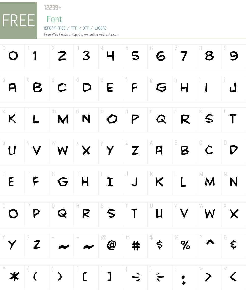 CCFightingWordsW00-Regular Font Screenshots