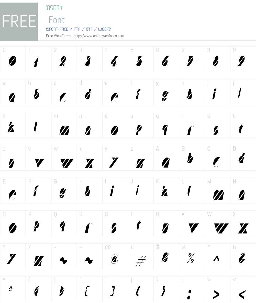 Cane Condensed Font Screenshots