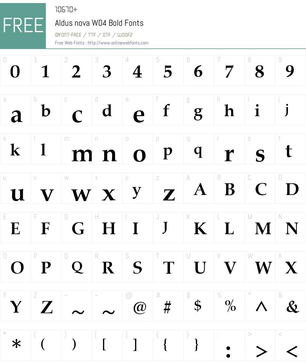 AldusnovaW04-Bold Font Screenshots