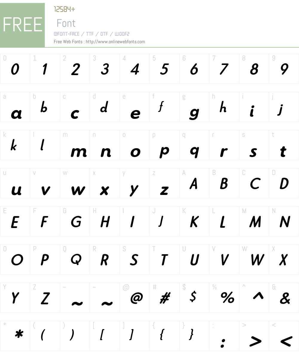 Le Havre Rounded Bold Italic Font Screenshots
