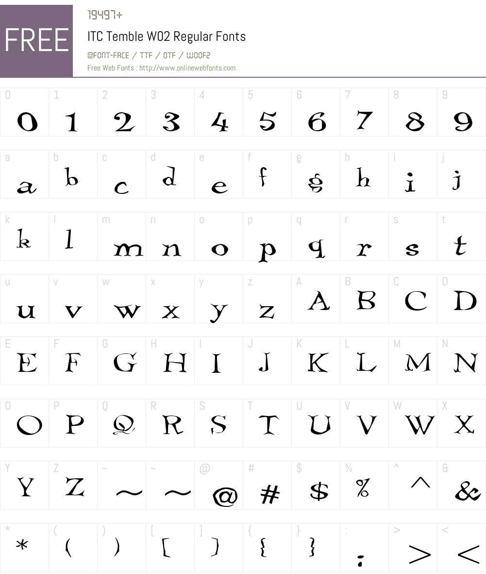 ITC Temble Font Screenshots