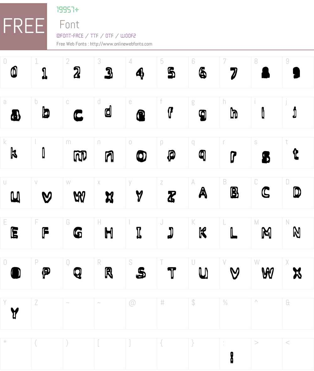 Grasping Font Screenshots
