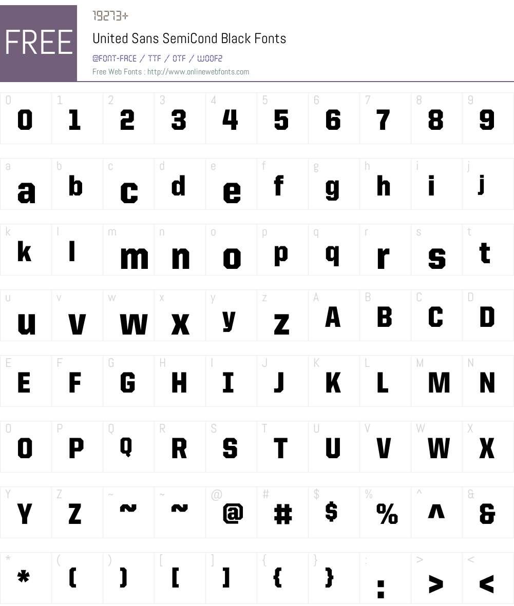 United Sans SemiCond Font Screenshots