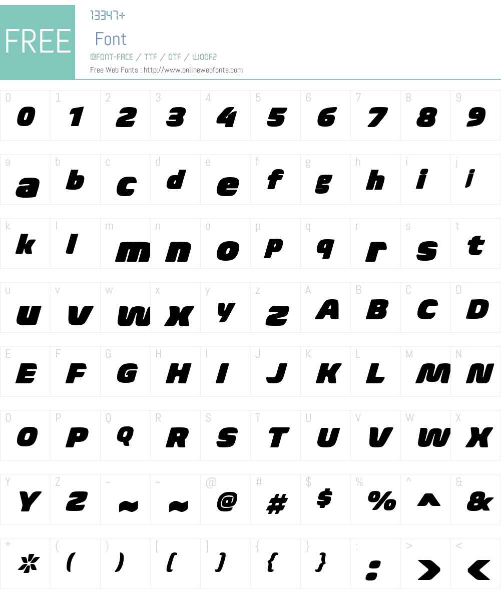 BiomeW01-UltraItalic Font Screenshots