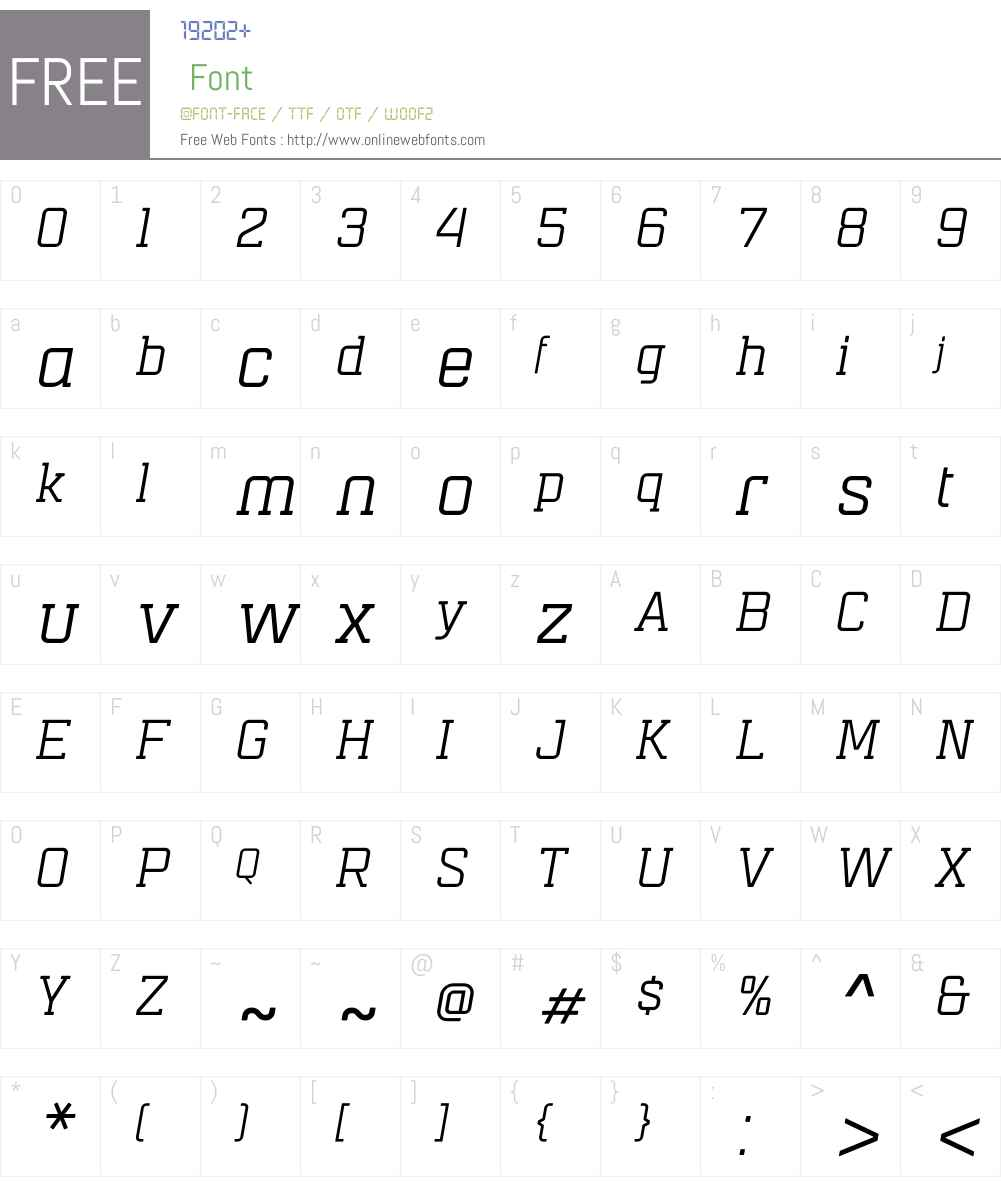 MensuraSlabItalicW01-Rg Font Screenshots