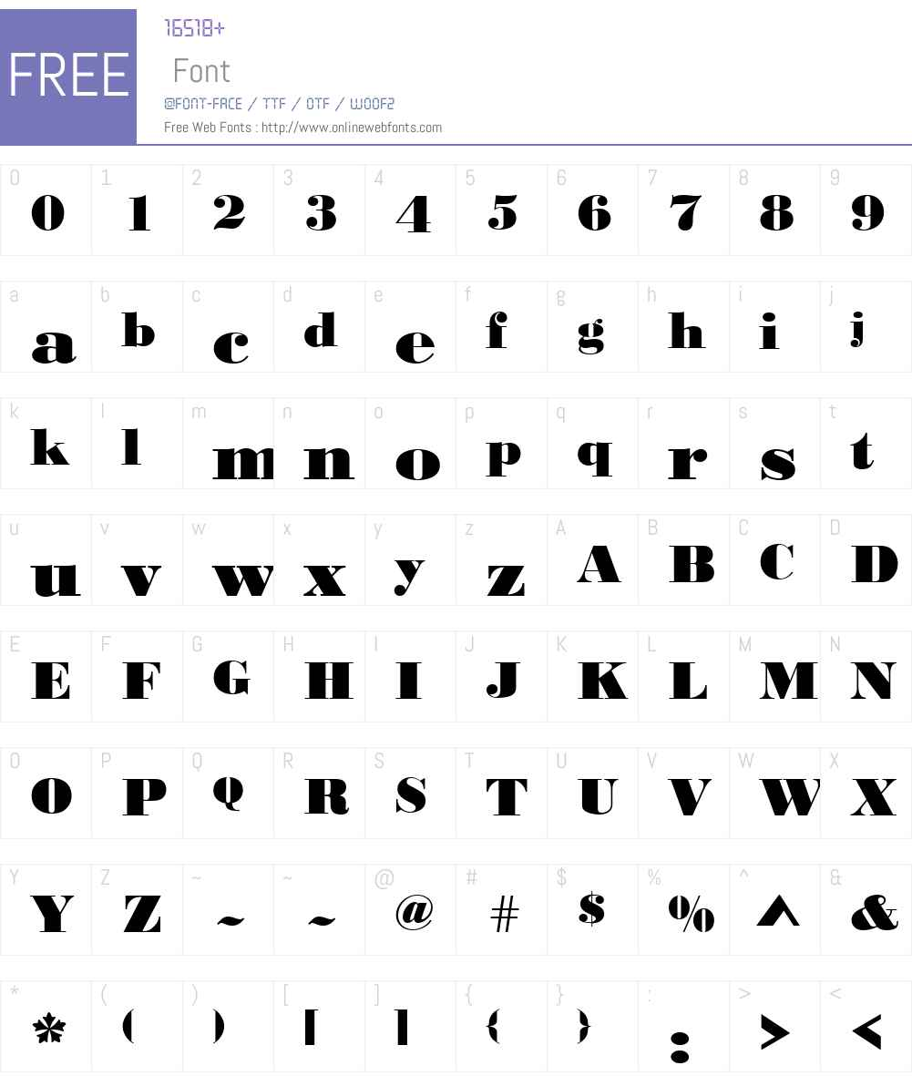 URWBodoniDExtBolWid Font Screenshots