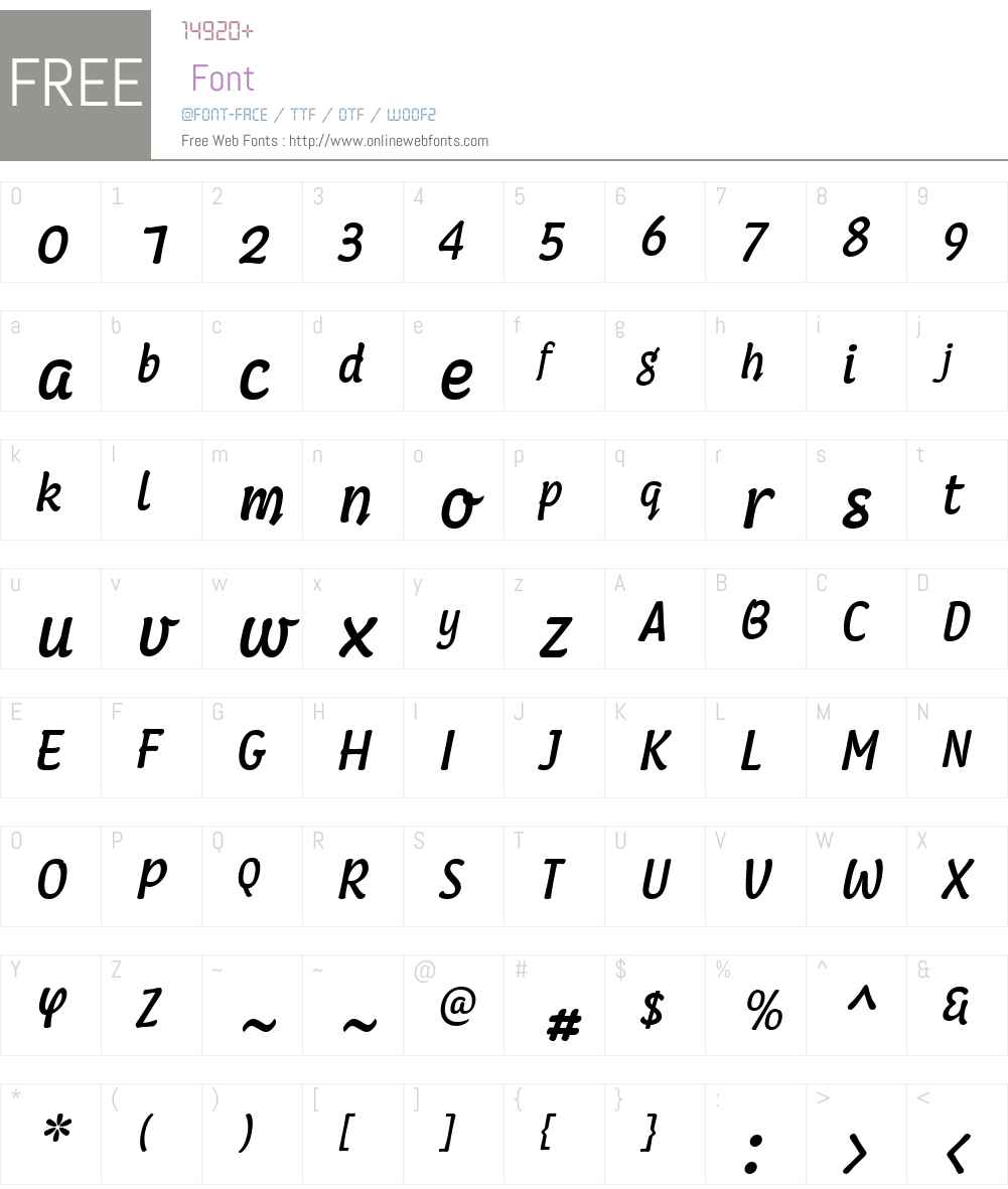 Coomeec Font Screenshots