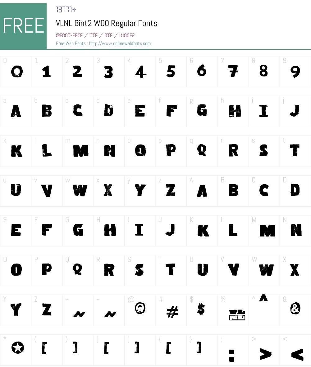 VLNL Bint Font Screenshots